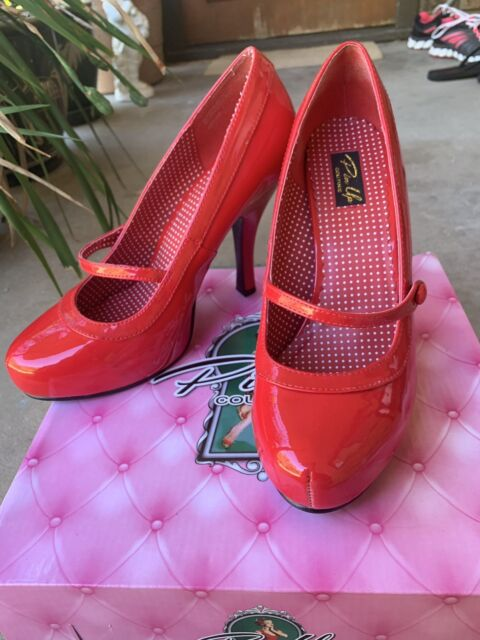 Women's shoes Pinup Couture Shoes (CUTIEPIE 02) Red Pat