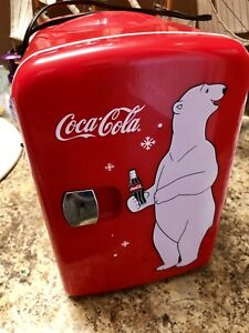 Coca Cola mini electric fridge.
