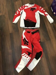 Youth motocross pants and shirt