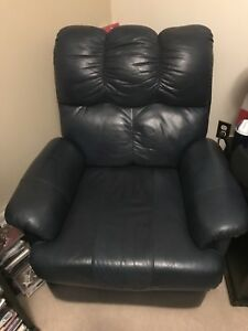 Leather recliner and love seat