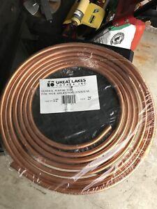 1/2 inch copper tubing 25 feet