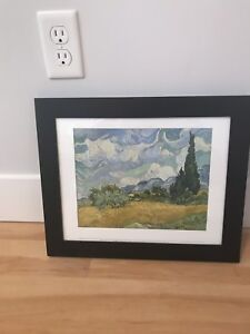 Vincent Van Gogh- WHEAT FIELD WITH CYPRESSES print