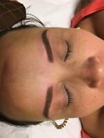 Micro blading eyebrows