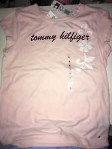 Tommy Hilfiger Girl Large=12 Pink T shirt New with Tag