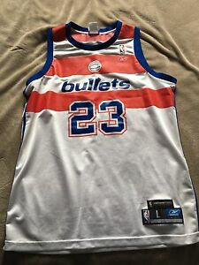 Michael Jordan throwback Washington bullets jersey