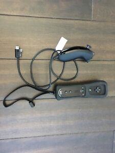 Black Wii Remote Plus with Nunchuck