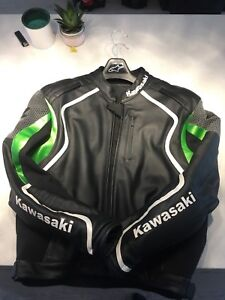 Kawasaki XL leather motorcycle jacket