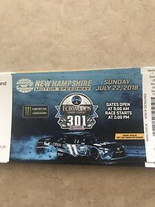 Tickets and camping for nascar race in louden nh