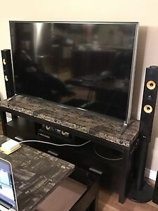"""60"""" Sony Smart 3D TV, table and surround sound"""