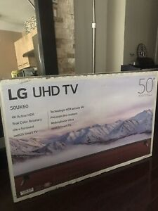 LG 50 inch 4K smart TV new in the box for sale