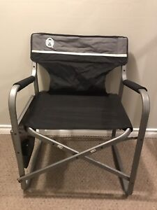 2 Coleman Camping chairs with trays