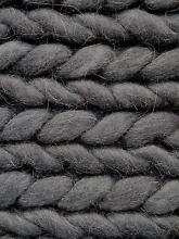 New Large 200x290 Hand Woven Rope Weave Dark Grey Wool Rugs Melbourne CBD Melbourne City Preview