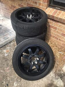 "20"" black car rims for sale Woonona Wollongong Area Preview"