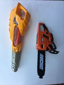 Toy Leaf Blower and Toy Chainsaw