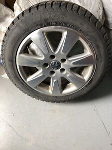 4 winter tires mounted on VW mags 16 inch