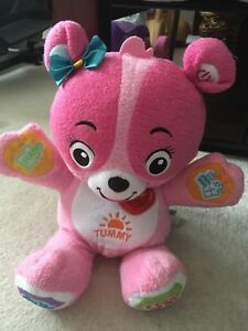 V-Tech Huggable Learning Bear in Pink