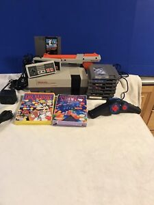 Original Nintendo Entertainment System NES New Pins + 10 games