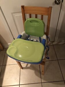 Space saving Highchair/booster seat.