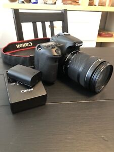 Canon 70d + 18-135 + Original battery and Charger
