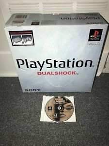 PS1 Playstation 1 console complete in box and 1 game tomb raider