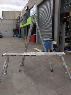 Gorilla Industrial Ladder and Adjustable plank ladder