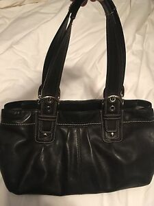 Large leather Coach bag