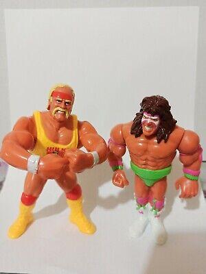 Hulk Hogan & Ultimate Warrior Vintage Hasbro 1991 Action Figures