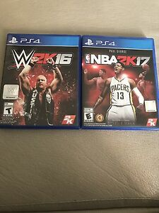 wwe 2k16 and NBA 2k17 (PS4 both for $45)