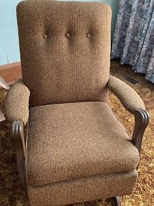 Small upholstered vintage rocking chair