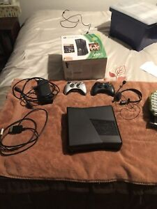 Xbox 360 250 GB Console + 10 Games + 2 Controllers + Headset