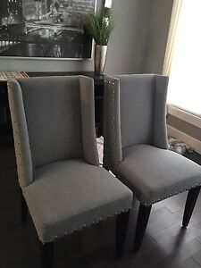 Grey dining chairs $125 each OBO