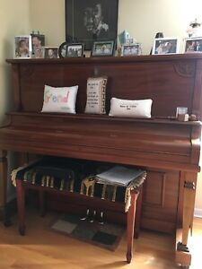 Antique Upright Piano by Nordheimer