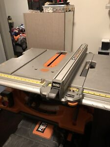 Ridgid table saw (no power) with gravity rise stand