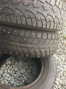 3 studded winter grin tires 175/70/13