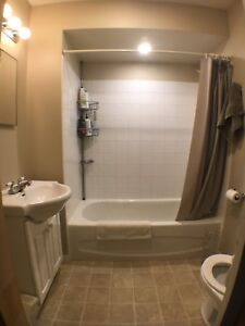 Selling Bathtub, Vanity, Mirror, light
