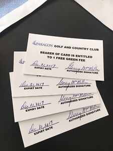 4 green fee's to Paragon Golf & Country