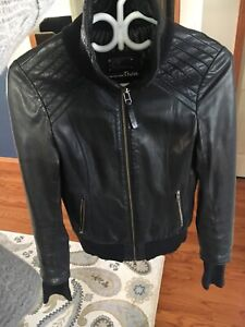Size Small Black Leather Mackage Jacket
