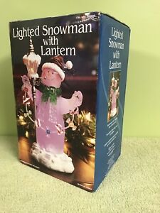 "12"" Lighted Snowman Decoration"