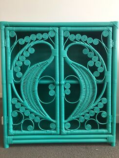 Turquoise hutch/cabinet/shelf