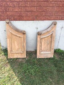Antique pew ends