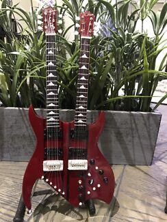 Miniature Guitar BC Rich Double Neck