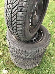 Volkswagen Golf Jetta 195/65-15 winter tires and rims
