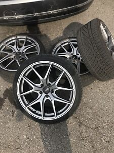 Fast fc rims with new continental dws06 tires