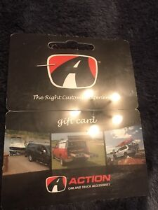 Action car and truck gift certificate
