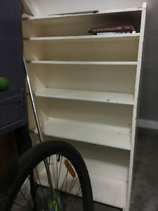 Cream Colored Bookshelf In Good Conditionbr Repaint To Color Choice If Desired Freebr
