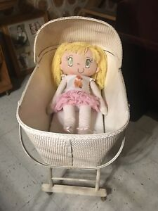 """32"""" doll and bassinet"""