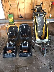 Chariot Stroller and 2 Peg Perego Car Seats $450.00