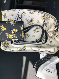 Floral Coach purse