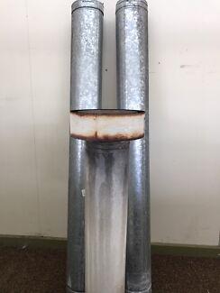 Flue kit double skin inside stainless steel