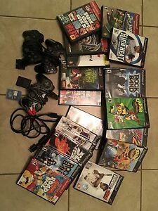 PlayStation 2 games, memory card and controllers. Many are new.
